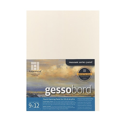 "Ampersand Gessobord, 9"" x 12"", 1/8"", 4/Pack (50540-PK4)"