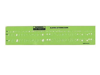 Chartpak Rapidesign Lettering Guides, Gothic Slanted, 1/8 in., 3/16 in., 1/4 in.