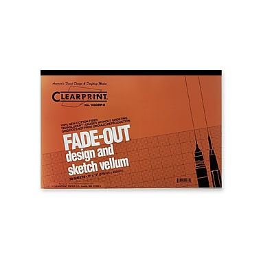 Clearprint Fade-Out Design and Sketch Vellum - 8x8 Grid Pad, 11 in. x 17 in., 50 sheet pad