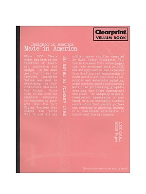Clearprint Plain Vellum Field Book, 50 Sheets, 8.5