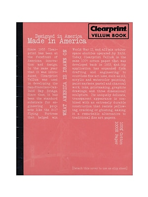 Clearprint Plain Vellum Field Book, 50 Sheets, 6