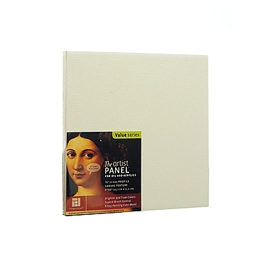 Ampersand The Artist Panel Canvas Texture Flat Profile 6 in. x 6 in. 3/8 in. [Pack of 4]