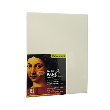 Ampersand The Artist Panel Canvas Texture Flat Profile 8 in. x 10 in. 3/8 in. [Pack of 3]