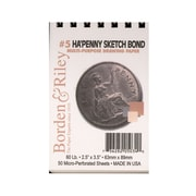 Borden and Riley Ha'Penny 2-1/2in x 3-1/2in Sketch Pad, 50 Sheets, 6/Pack (46800-PK6)