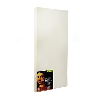 Ampersand The Artist Panel Canvas Texture Cradled Profile 6 in. x 12 in. 3/4 in. [Pack of 3]