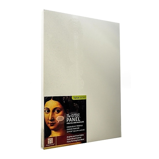 """Ampersand The Artist Panel Canvas Texture Cradled Profile, 12"""" x 16"""" 3/4"""", 2/Pack (22072-PK2)"""