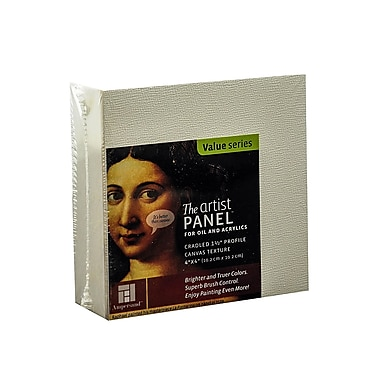 Ampersand The Artist Panel Canvas Texture Cradled Profile 4 in. x 4 in. 1 1/2 in. [Pack of 2]