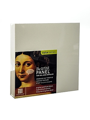 Ampersand The Artist Panel Canvas Texture Cradled Profile 8 in. x 8 in. 1 1/2 in. [Pack of 2]