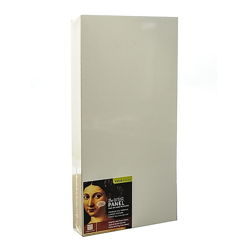 Ampersand The Artist Panel Canvas Texture Cradled Profile 6 in. x 12 in. 1 1/2 in. [Pack of 2]