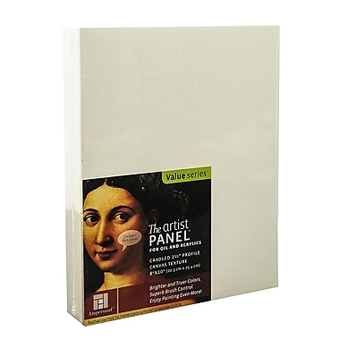 Ampersand The Artist Panel Canvas Texture Cradled Profile 8 in. x 10 in. 1 1/2 in. [Pack of 2]