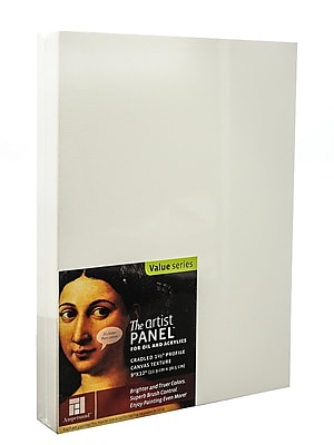 Ampersand The Artist Panel Canvas Texture Cradled Profile 9 in. x 12 in. 1 1/2 in. [Pack of 2]