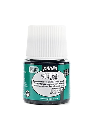 Pebeo Vitrea 160 Glass Paint emerald gloss 45 ml [Pack of 3]