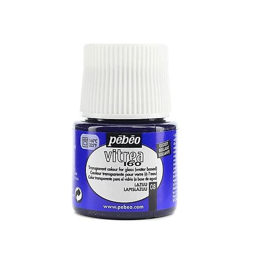 Pebeo Vitrea 160 Glass Paint lazuli gloss 45 ml [Pack of 3]