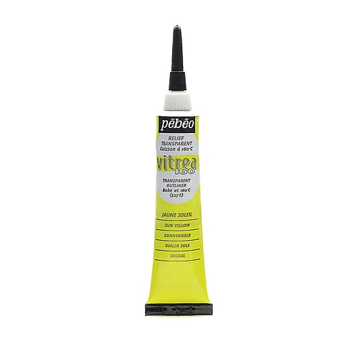 Pebeo Vitrea 160 Outliners sun yellow 20 ml [Pack of 3]