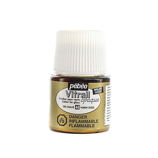Pebeo Vitrail Paint warm gold 45 ml [Pack of 3]