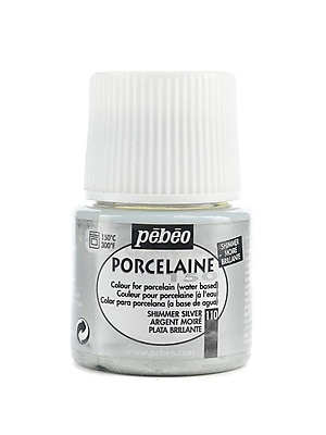 Pebeo Porcelaine 150 China Paint shimmer silver 45 ml [Pack of 3]