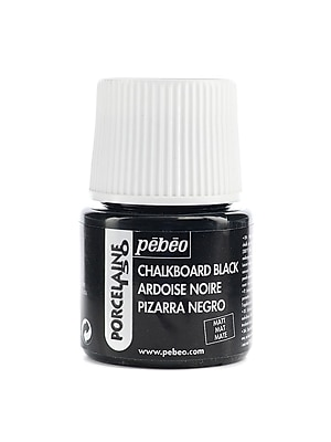 Pebeo Porcelaine 150 China Paint chalkboard black 45 ml [Pack of 3]