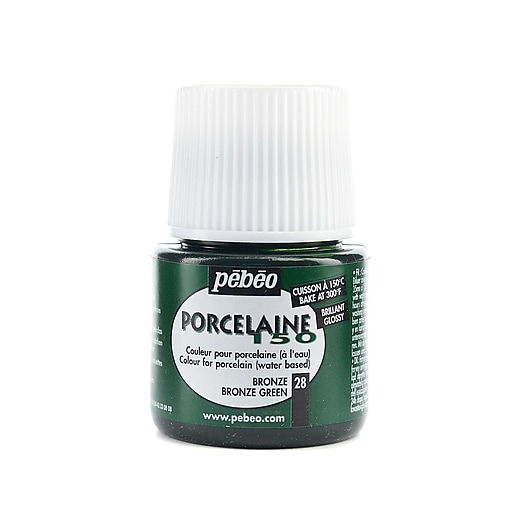 Pebeo Porcelaine 150 China Paint bronze green 45 ml [Pack of 3]