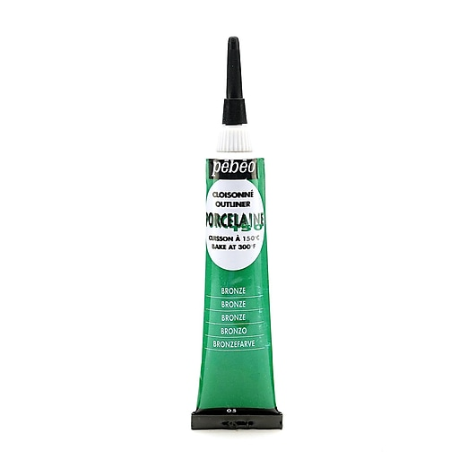 Pebeo Porcelaine 150 China Paint Outliners bronze green 20 ml [Pack of 3]