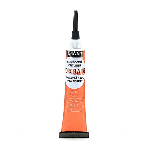 Pebeo Porcelaine 150 China Paint Outliners coral red 20 ml [Pack of 3]