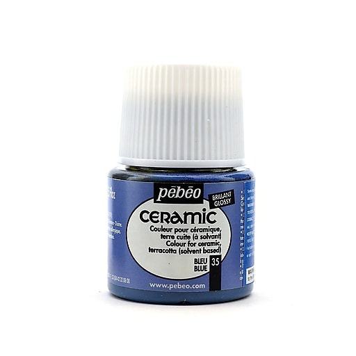 Pebeo Ceramic Air Dry China Paint blue 45 ml [Pack of 3]
