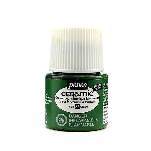 Pebeo Ceramic Air Dry China Paint green 45 ml [Pack of 3]