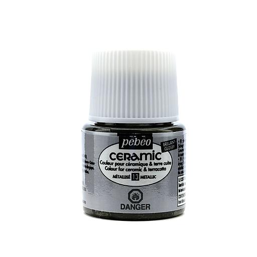 Pebeo Ceramic Air Dry China Paint metallic 45 ml [Pack of 3]