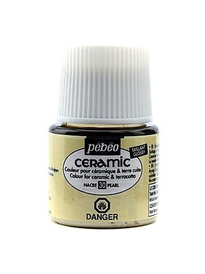 Pebeo Ceramic Air Dry China Paint pearl 45 ml [Pack of 3]