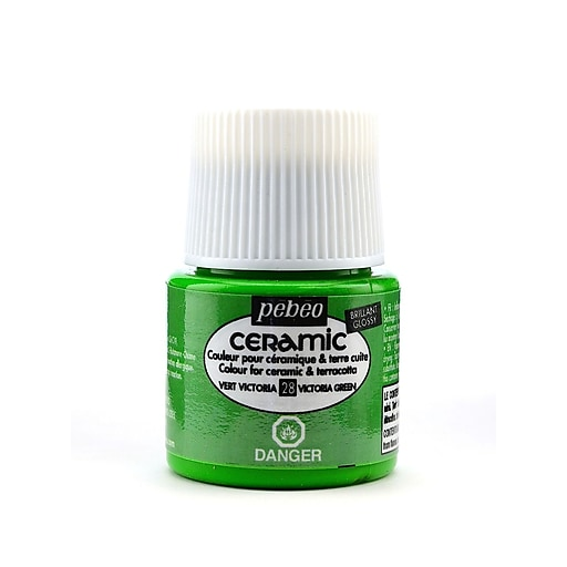 Pebeo Ceramic Air Dry China Paint victoria green 45 ml [Pack of 3]