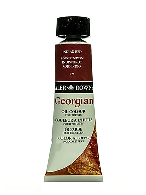 Daler-Rowney Georgian Oil Colours Indian red 75 ml [Pack of 2]