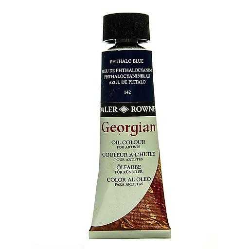 Daler-Rowney Georgian Oil Colours primary cyan 75 ml [Pack of 2]