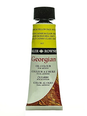 Daler-Rowney Georgian Oil Colours cadmium yellow pale hue 75 ml [Pack of 2]
