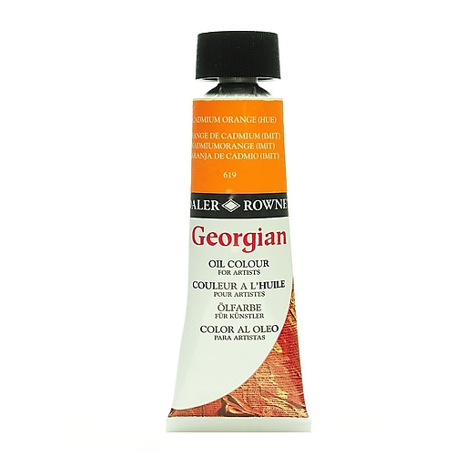 Daler-Rowney Georgian Oil Colours cadmium orange hue 75 ml [Pack of 2]