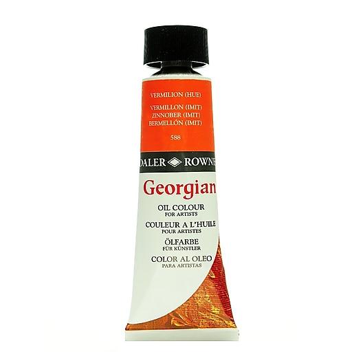 Daler-Rowney Georgian Oil Colours Vermilion Hue 75 Ml, 2/Pk