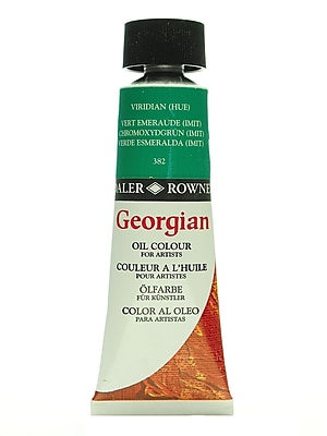 Daler-Rowney Georgian Oil Colours viridian hue 75 ml [Pack of 2]