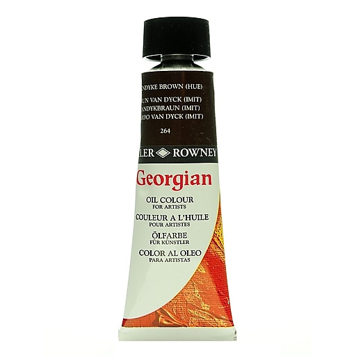 Daler-Rowney Georgian Oil Colours Vandyke brown hue 75 ml [Pack of 2]