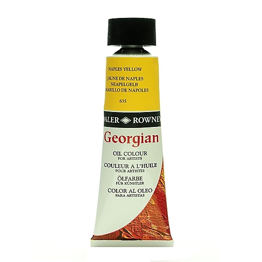 Daler-Rowney Georgian Oil Colours Naples yellow 75 ml [Pack of 2]