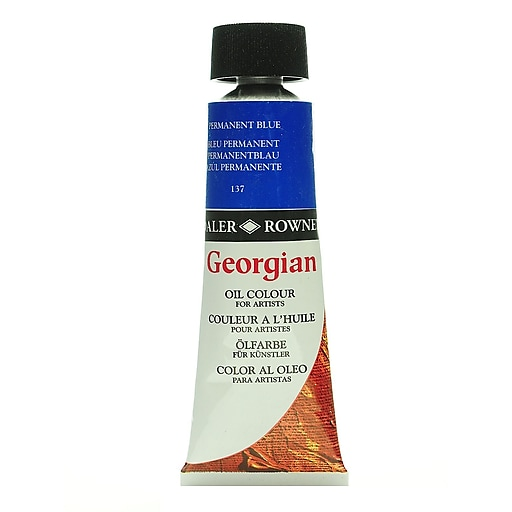Daler-Rowney Georgian Oil Colours permanent blue 75 ml [Pack of 2]