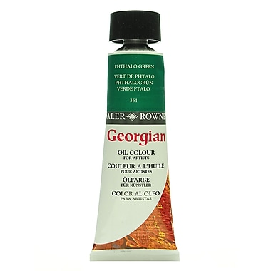 Daler-Rowney Georgian Oil Colours phthalo green 75 ml [Pack of 2]