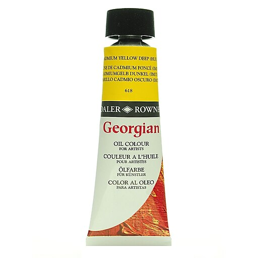 Daler-Rowney Georgian Oil Colours cadmium yellow deep hue 75 ml [Pack of 2]