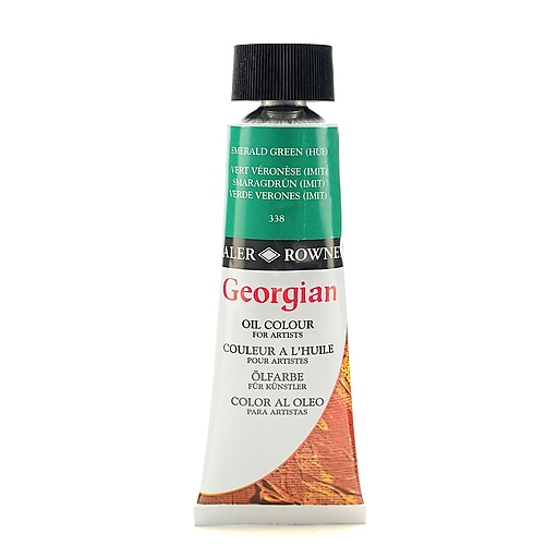 Daler-Rowney Georgian Oil Colours emerald green hue 75 ml [Pack of 2]