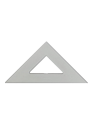 C-Thru Transparent Triangles Professional-45/90 Degree 12 In. [Pack Of 3] (3PK-P-450-12)