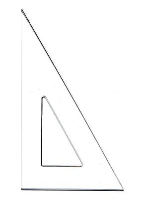 C-Thru 11279-PK6 Transparent Triangles Scholastic, 30/60-Degree, 12