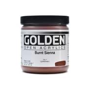 Golden OPEN Acrylic Colors, Burnt Sienna, 8oz Jar (59708)