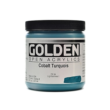 Golden OPEN Acrylic Colors cobalt turquoise 8 oz. jar