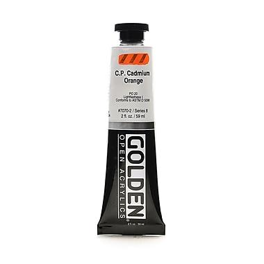 Golden OPEN Acrylic Colors Cadmium Orange (CP) 2 oz. Tube (93599)