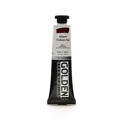 Golden OPEN Alizarin Crimson Hue Acrylic Color, 2oz Tube (93626)