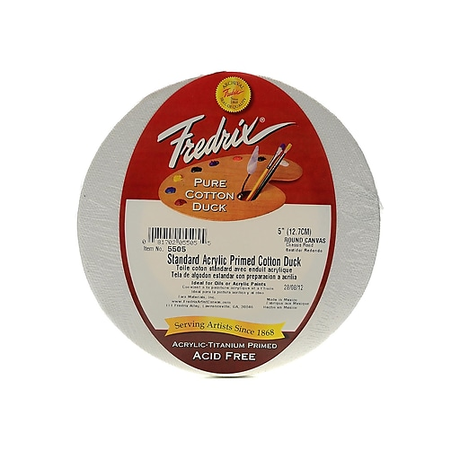 "Fredrix Round Stretched Canvas 5"" (43761)"