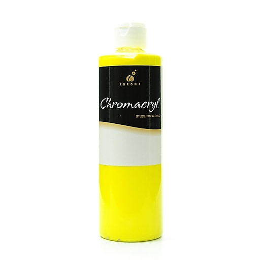 Chroma Inc. Chromacryl Students' Acrylic Paints cool yellow 500 ml [Pack of 2]