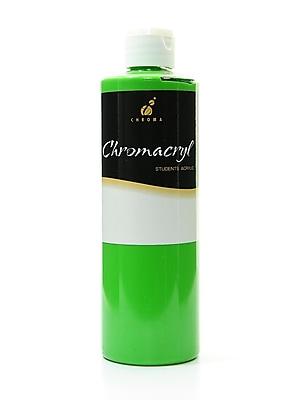 Chroma Inc. Chromacryl Students' Acrylic Paints, Light Green, 500ml, 2/Pack, (56085-PK2)